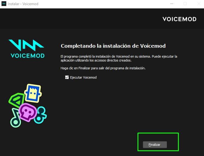 finalizacion descarga de voicemod